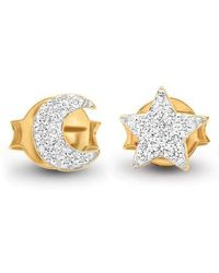 Missoma - Pave Moon & Star Stud Earrings - Lyst