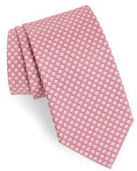 Ferragamo - Ematite Print Silk Tie - Lyst