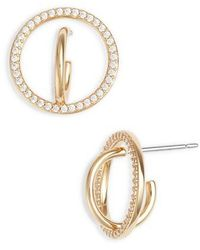 Nadri - Cubic Zirconia Hoop Earrings - Lyst