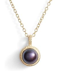Anna Beck - Genuine Blue Pearl Pendant Necklace - Lyst