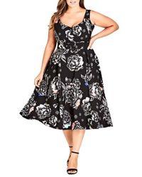 City Chic - Flower Power Dress - Lyst