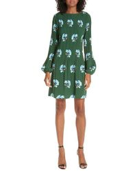 Maje - Floral Print Pleat Dress - Lyst