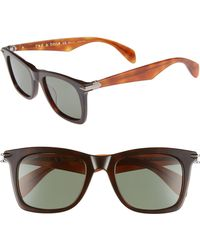 Rag & Bone - Core 51mm Polarized Sunglasses - Dark/ Havana - Lyst