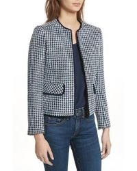 Helene Berman - Check Short Tweed Jacket - Lyst
