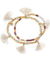 Madewell - Set Of 2 Beaded Tassel Bracelets - Lyst