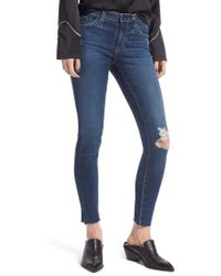 AG Jeans - The Legging Ripped Ankle Skinny Jeans - Lyst