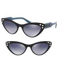 Miu Miu - Logomania 55mm Cat Eye Sunglasses - - Lyst