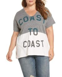 Lucky Brand - Spliced Coast To Coast Tee - Lyst