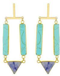 Panacea - Stone Drop Earrings - Lyst