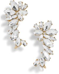 BaubleBar - Winged Crystal Ear Crawlers - Lyst