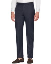 Zanella - Curtis Flat Front Solid Wool Trousers - Lyst