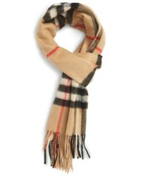 Burberry - Heritage Check Cashmere Scarf - Lyst