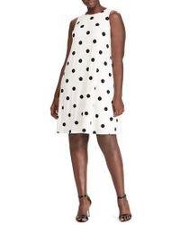 Lauren by Ralph Lauren - Peninsula Dot A-line Dress - Lyst