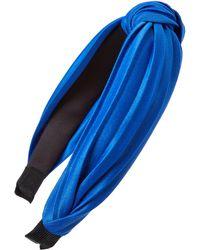 Tasha Pleated Knot Headband - Blue