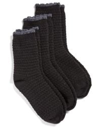 Hue - Tex Supersoft Boot Socks 3-pack, Black - Lyst