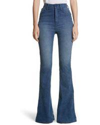 Brandon Maxwell - High Waist Bell Bottom Jeans - Lyst