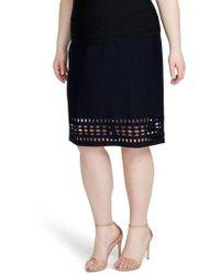 RACHEL Rachel Roy - Cutout Knit Skirt - Lyst