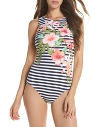 21fa291f031a9 Lyst - Tommy Bahama Majorelle Bandeau One-piece Swimsuit in Blue