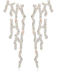Monica Vinader - Riva Waterfall Diamond Cocktail Earrings - Lyst