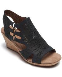 Cobb Hill - Janna Perforated Wedge Sandal - Lyst