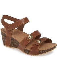 45dc890dc05ae Lyst - Tory Burch Savannah Metallic Wedge Sandal in Metallic