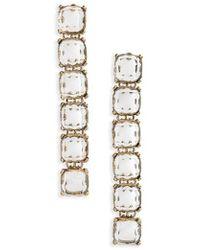 Shashi | Isadora Linear Drop Earrings | Lyst