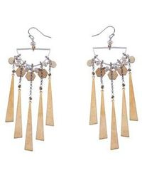 Nakamol | Freshwater Pearl & Metal Fringe Statement Earrings | Lyst