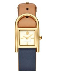 Tory Burch - Thayer Leather Strap Watch - Lyst