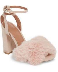 TOPSHOP - Sassy Faux Fur Sandal - Lyst
