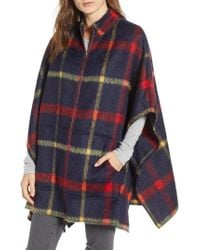 Treasure & Bond - Blanket Plaid Cape - Lyst