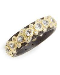 Armenta - Old World Lacy Eternity Diamond & Sapphire Ring - Lyst