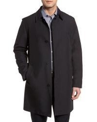 Cole Haan - Bonded Cotton Blend Raincoat - Lyst
