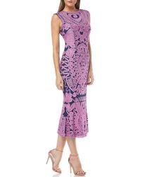 JS Collections - Soutache Mesh Trumpet Evening Dress - Lyst
