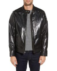 Lamarque - Leather Moto Jacket - Lyst