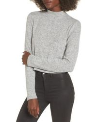 Project Social T | Crop Mock Neck Top | Lyst