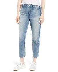 Sanctuary - Straight Leg Shadow Stripe Crop Jeans - Lyst