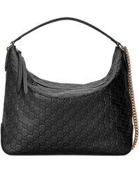 Gucci - Medium Padlock Leather Hobo - Lyst