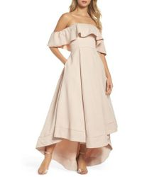 C/meo Collective - Temptation Off The Shoulder Ballgown - Lyst