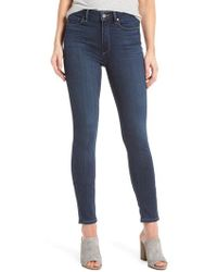 PAIGE - Transcend - Hoxton High Waist Ankle Skinny Jeans - Lyst