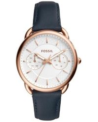 Fossil | Tailor Multifunction Leather Strap Watch | Lyst
