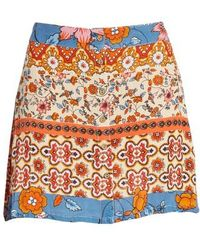 Raga - Sun Daze Mixed Print Skirt - Lyst