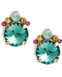 Sorrelli - Regal Rounds Crystal Earrings - Lyst