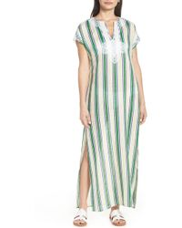 0817986f35fba Tory Burch - Awning Stripe Cover-up Caftan - Lyst