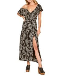 Amuse Society - Midnight Flower Asymmetrical Maxi Dress - Lyst