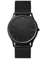 Skagen - Men's Jorn Black Stainless Steel Mesh Bracelet Watch 41mm - Lyst