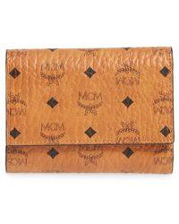 MCM - Original Small Visetos Trifold Wallet - Lyst