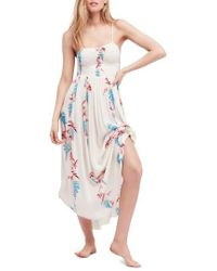 Free People - Beau Print Slipdress - Lyst