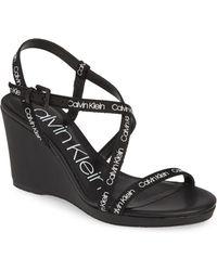 Calvin Klein - Bellemine Slingback Wedge Sandal - Lyst