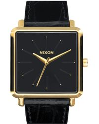 Nixon - 'the K Squared' Leather Strap Watch - Lyst