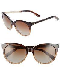Kate Spade | 'amayas' 53mm Cat Eye Sunglasses - Havana Beige | Lyst
